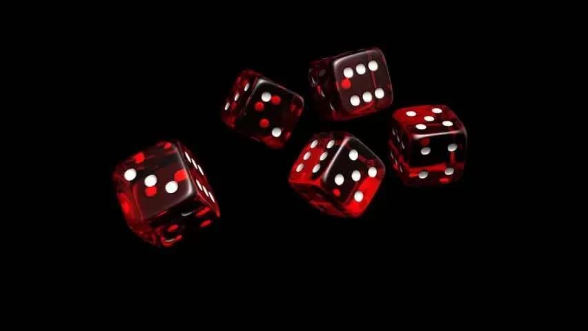 Casino spel med tärningar